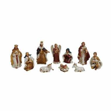 10-delige kerststal figuren kerst versiering set kerstversiering