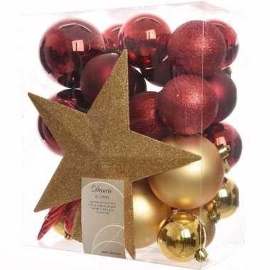 Ambiance christmas complete kerstversiering pakket 33 stuks