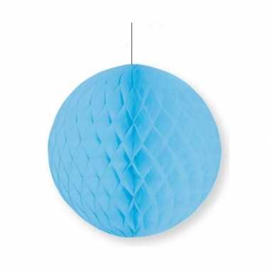 Babyblauwe decoratie bal 10 cm brandvertragend kerstversiering