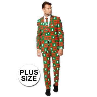 Big sized compleet kostuum in kerst stijl kerstversiering