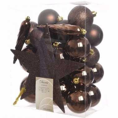 Cosy christmas complete kerstversiering pakket 33 stuks 10097523