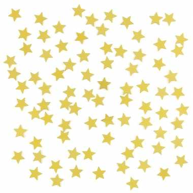 Decoratie gouden sterretjes confetti 3 zakjes kerstversiering