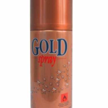 Decospray in het goud 150 ml kerstversiering