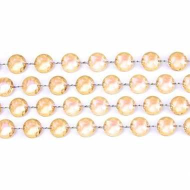 Goud slinger met kristalletjes kerstversiering