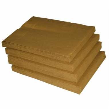 Gouden servetten 50 stuks kerstversiering
