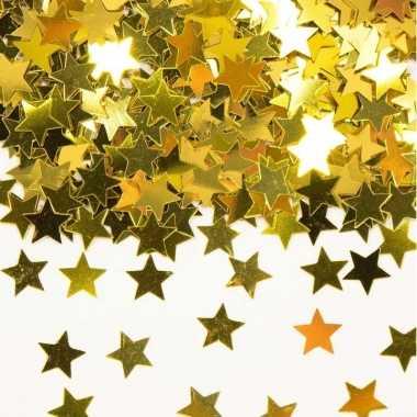 Gouden sterren confetti versiering van 28 gram kerstversiering