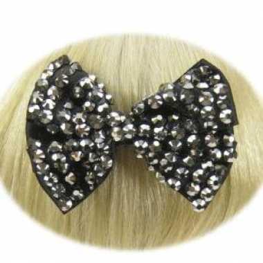 Haarstrikken zwart voor dames kerstversiering