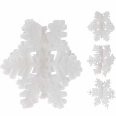 Kerst artikelen sneeuwvlok glitter kerstversiering