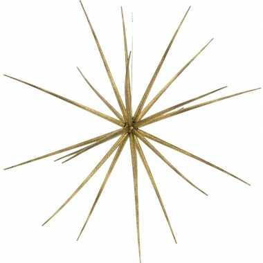 Kerst hang versiering gouden ster kunststof 17 cm kerstversiering