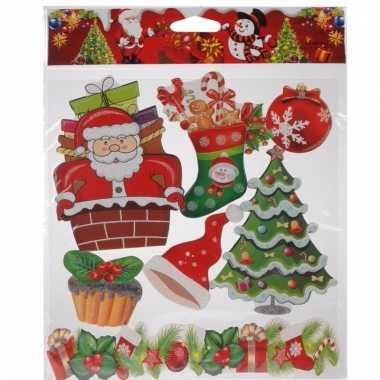 Kerst raamstickers type 4 kerstversiering