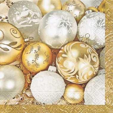 Kerst servetten met kerstballen kerstversiering 10076400