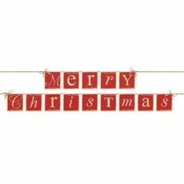 Kerst slingers merry christmas kerstversiering