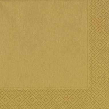 Kerst thema gouden servetten 33 x 33 cm kerstversiering