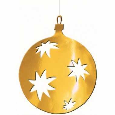 Kerstballen hangdecoratie 30 cm kerstversiering