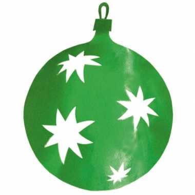 Kerstballen hangdecoratie groen 40 cm kerstversiering