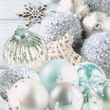 Kerstballen tafereel servetten 33 x 33 cm kerstversiering