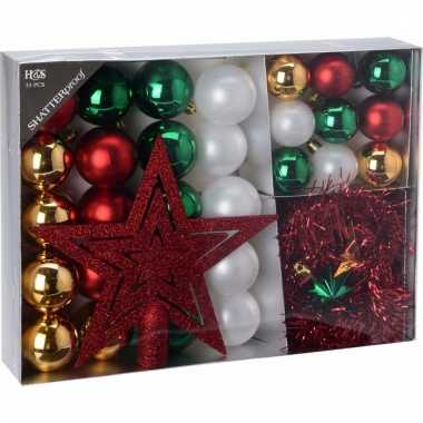 Kerstboom decoratie set 33 delig moods classics kerstversiering