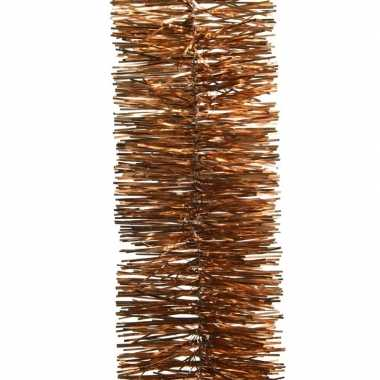 Kerstboom folie slinger koper bruin 270 cm kerstversiering