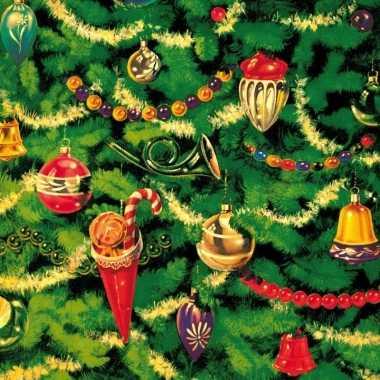 Kerstboom tafereel servetten 33 x 33 cm kerstversiering