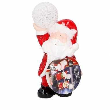 Kerstman met led kerst decoratie 17 cm kerstversiering