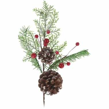 Kerststukje instekertjes 28 cm kerstversiering