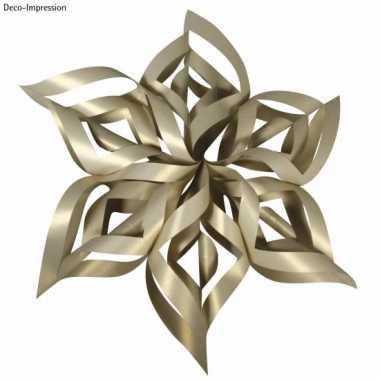 Kerstversiering hobby set gouden ster
