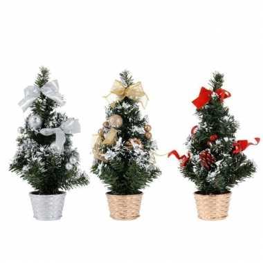 Kunst kerstboom 30 cm kerstversiering