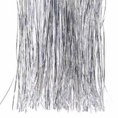 Mystic christmas zilveren kerstversiering tinsel slierten 50 cm