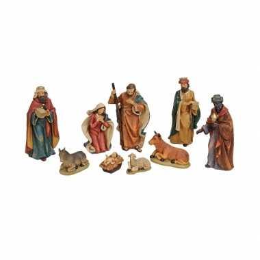 Polystone kerststalfiguren kerst versiering 9dlg kerstversiering