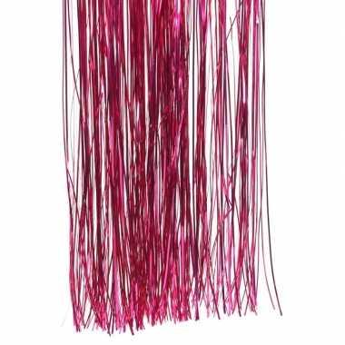 Roze kerstversiering slinger