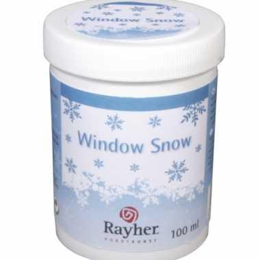 Sjabloon raamdecoratie sneeuw kerstversiering
