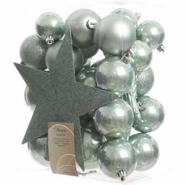 Sweet christmas complete kerstversiering pakket 33 stuks