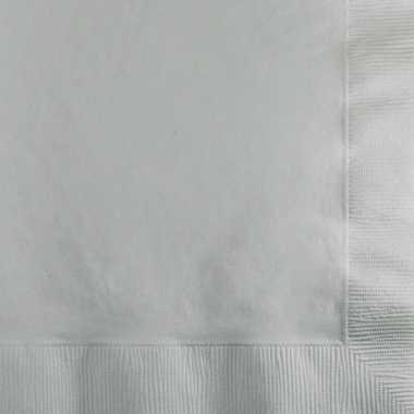 Zilveren servetten 2-laags kerstversiering