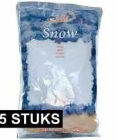 15x kunst sneeuw vlokjes 4 liter in zak kerstversiering