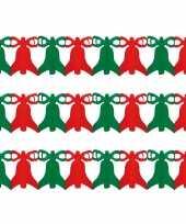 3x stuks kerstklokken slingers 3 meter kerstversiering