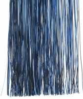 6x blauwe kerstversiering slinger