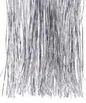 Christmas silver zilveren kerstversiering tinsel slierten 50 cm