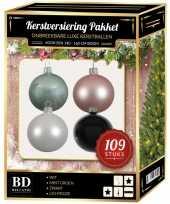 Complete luxe versiering set nr 13 voor 150 cm kerstboom kerstversiering