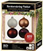 Complete luxe versiering set nr 17 voor 150 cm kerstboom kerstversiering