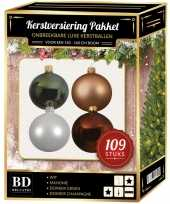 Complete luxe versiering set nr 2 voor 150 cm kerstboom kerstversiering