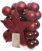 Cosy christmas complete kerstversiering pakket 33 stuks