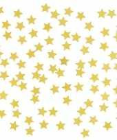 Decoratie gouden sterretjes confetti 2 zakjes kerstversiering