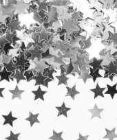 Decoratie zilveren sterretjes confetti 3 zakjes kerstversiering 10135718