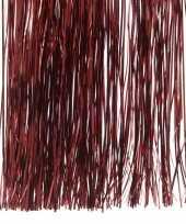 Donkerrode kerstversiering slinger