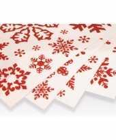 Kerst decoratie raamstickers rode sneeuwvlokken kerstversiering