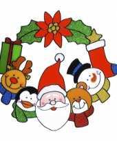 Kerst raam sticker 30 cm kerstversiering