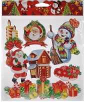 Kerst raamstickers type 1 kerstversiering