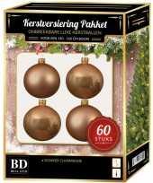Kerstballen met ster piek set donker parel champagne voor 150 cm kerstboom kerstversiering