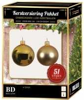 Kerstballen met ster piek set goud voor 120 cm kerstboom kerstversiering 10170352