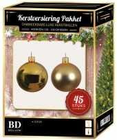 Kerstballen met ster piek set goud voor 120 cm kerstboom kerstversiering